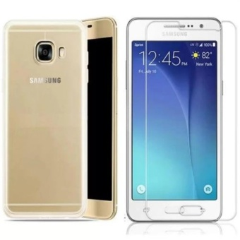 Bộ ốp lưng Silicon cho Samsung Galaxy A9 Pro + Kính cường lực Trong suốt