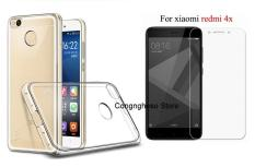 Bộ ốp lưng Silicon Xiaomi Redmi 4X (Trắng) + Kính cường lực 2.5D