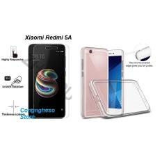 Bộ ốp sillicon + kính cường lực cho Xiaomi Redmi 5A