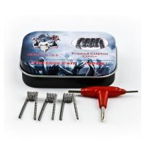 Bộ Prebuilt coil DEMON KILLER Pack 10PCS 0.25Ohm siêu khói Framed Clapton + Tặng 1 túi bông 5 miếng - Hàng nhập khẩu