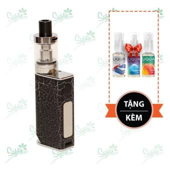 Bộ sản phẩm thuốc lá điện tử (vape) Ovancl P9 (Black) tặng 3 lọ tinh dầu New Liqua 10ml vị Xì gà Cuba, Bạc hà, Đào