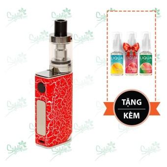 Bộ sản phẩm thuốc lá điện tử (vape) Ovancl P9 (Red) tặng 3 lọ tinh dầu New Liqua 10ml vị Dứa, Dâu, Dưa hấu