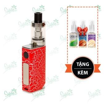 Bộ sản phẩm thuốc lá điện tử (vape) Ovancl P9 (Red) tặng 3 lọ tinh dầu New Liqua 10ml vị Thuốc lá nhẹ, Caramel, Kem sữa