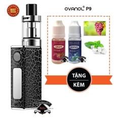 Bộ thuốc lá (Vape - Shisha) điện tử siêu khói Ovancl P9 (Đen) + tặng 2 chai tinh dầu England Flavours Vị Nho Đỏ và Bạc Hà thơm mát lạnh