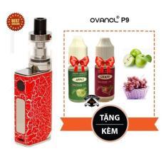 Bộ thuốc lá (Vape - Shisha) điện tử siêu khói Ovancl P9 (Đỏ) + tặng 2 chai tinh dầu England Flavours Vị Táo Xanh và Nho Đỏ thơm tươi