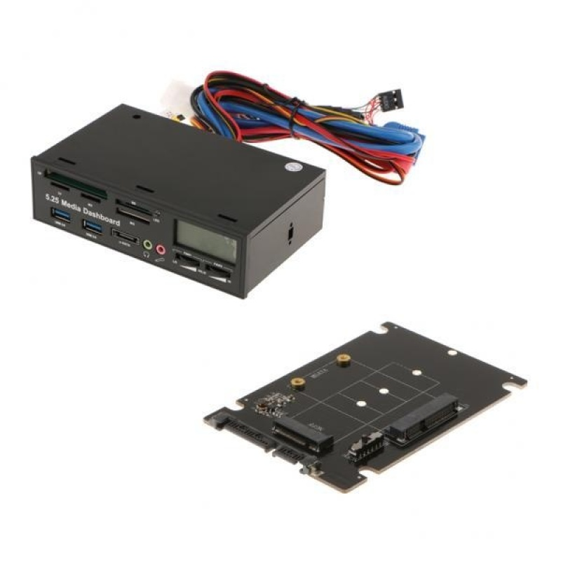 Bảng giá BolehDeals 5.25 Front Panel Media Dashboard USB3.0 Card Reader +mSATA to SATA Adapter - intl Phong Vũ