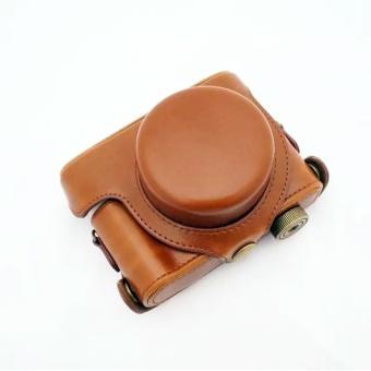 Brown Camera Case Bag Leather Case Cover for Digital CameraLeicaD-LUX 6 D6 - intl