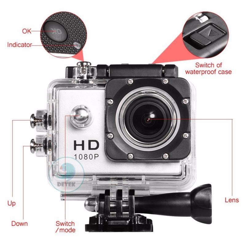 Camera hành động chống nước FullHD 1080P (Bạc)