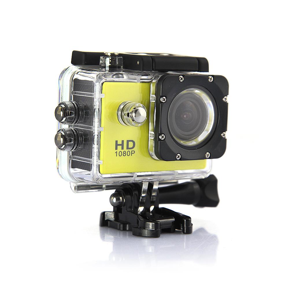 Camera hành động Sports Cam HD 1080P (Vàng)
