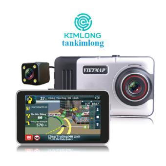 Camera hành trình Vietmap A45 Dẫn đường GPS (Đen bạc)  đang được bán