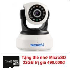 Camera IP WIFI/3G Siepem S6203Y (Trắng) + Tặng thẻ nhớ MicroSD 32GB