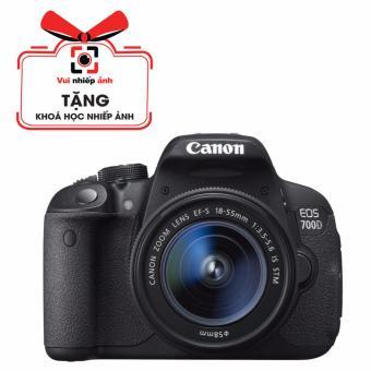Canon 700D 18MP với Lens kit 18-55mm IS STM 18MP (Đen) + Chính hãng Lê Bảo Minh + Tặng khoá học nhiếp ảnh EOS + 1 túi đựng máy ảnh và 1 thẻ nhớ 16GB - 10226463 , CA185ELBBDK5VNAMZ-905976 , 224_CA185ELBBDK5VNAMZ-905976 , 13500000 , Canon-700D-18MP-voi-Lens-kit-18-55mm-IS-STM-18MP-Den-Chinh-hang-Le-Bao-Minh-Tang-khoa-hoc-nhiep-anh-EOS-1-tui-dung-may-anh-va-1-the-nho-16GB-224_CA185ELBBDK5VNAMZ-905976