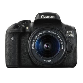 Canon EOS 750D 24MP với Lens kit EF-S 18-55 IS STM (Đen) - Hàng nhập khẩu