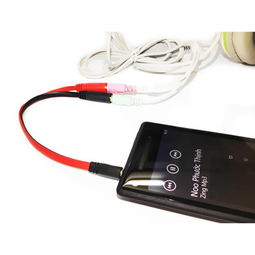 Hình ảnh Cáp chia Audio 3.5mm ra Mic và Loa CAP 001 - 7A4V