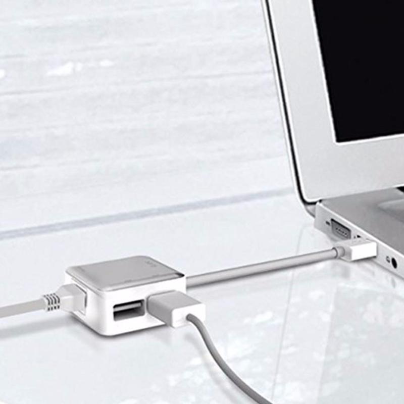 Bảng giá Cáp chia cổng Ethernet Adapter/ 2 cổng usb Cho Laptop -MACBOOK Phong Vũ
