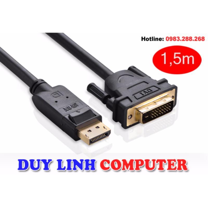 Bảng giá Cáp chuyển Displayport to DVI 24+1 1,5M chính hãng Ugreen 10243 hỗ trợ HD 1080p Phong Vũ