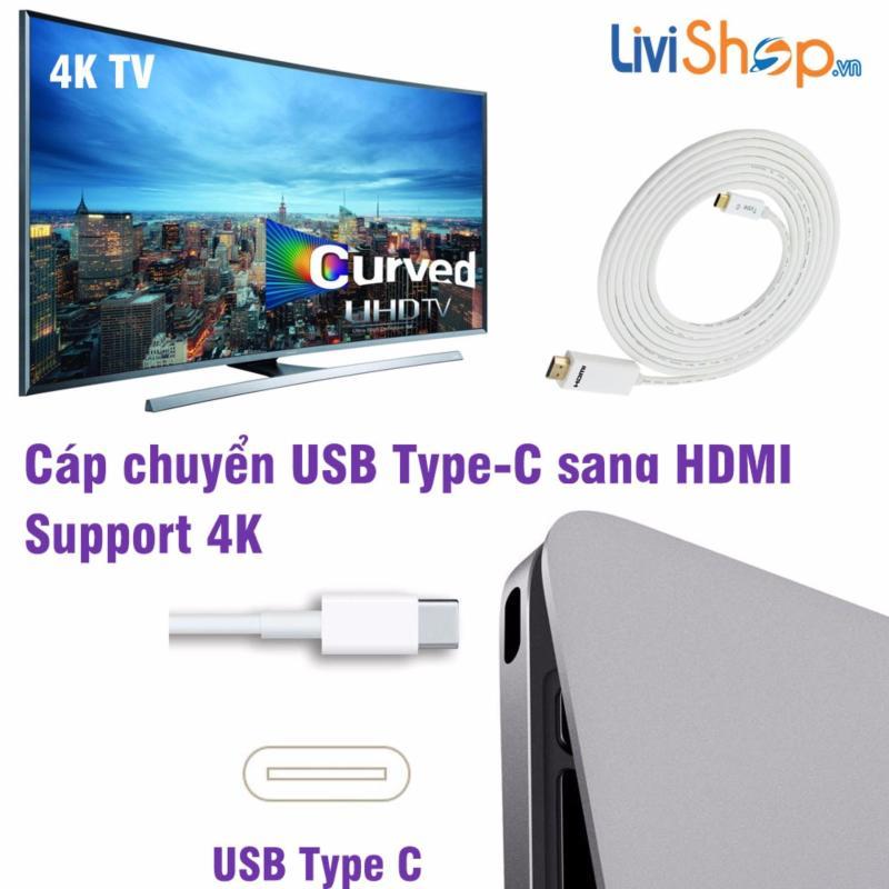 Bảng giá Cáp chuyển USB Type C sang HDMI hỗ trợ xuất Video 4K (3 mét) siêu nét Phong Vũ