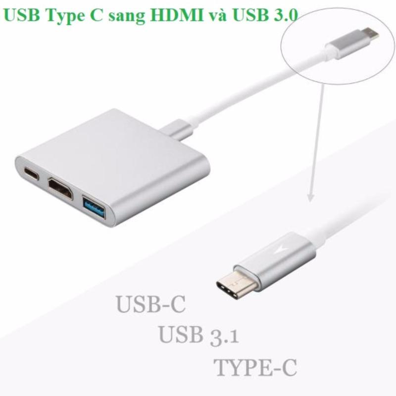 Bảng giá Cáp chuyển USB Type C sang HDMI và USB 3.0 giá rẻ Phong Vũ