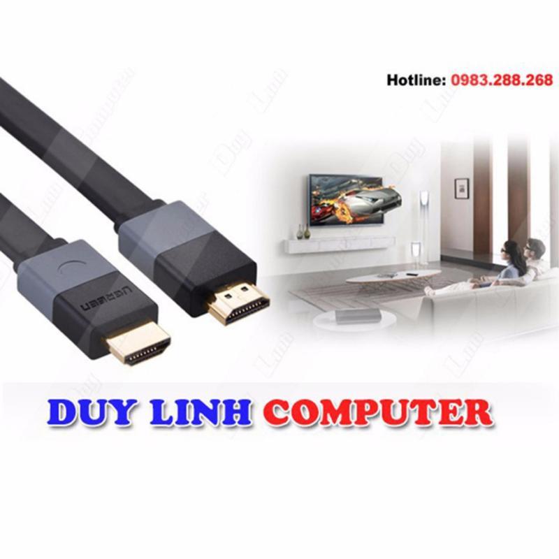 Bảng giá Cáp HDMI 1,5M dẹt hỗ trợ 3D 4K Ugreen 30109 Phong Vũ