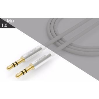 Cáp loa 2 đầu 3.5mm (AUX) loại ngắn, dây tròn 1 mét UGREEN 10751(màu trắng)