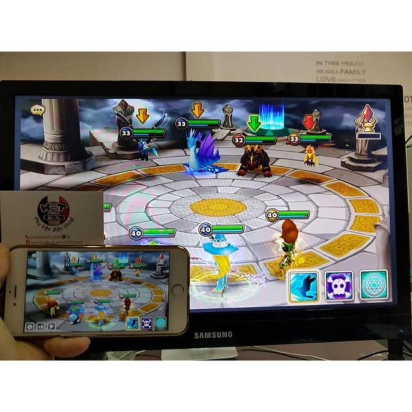 Hình ảnh Cap Noi Iphone 5 Ra Tivi, Thiết Bị Hdmi M2 Plus - Mẫu Mới Nhất 2017