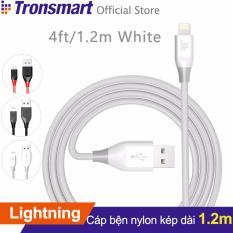 Cáp sạc bọc nylon TRONSMART LTA MFi Lightning dài 1.2m cho iPhone iPad