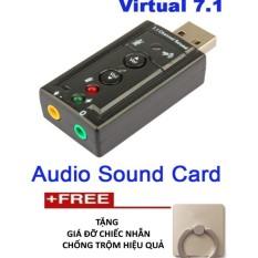 Bảng Giá Card sound âm thanh 3D TTP- 7.1 cao cấp + Tặng giá đỡ chống trộm chiếc nhẫn đẹp