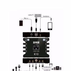 Giá Card sound hát karaoke cắm ngoài USB – XOX K10 (Đen)  Tại HolaHola (Tp.HCM)
