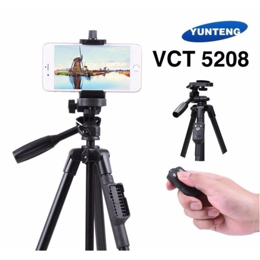Kết quả hình ảnh cho Chân máy YUNGTENG VCT 5208 có kèm Remote