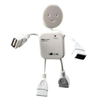 Chia cổng USB robot (Trắng)