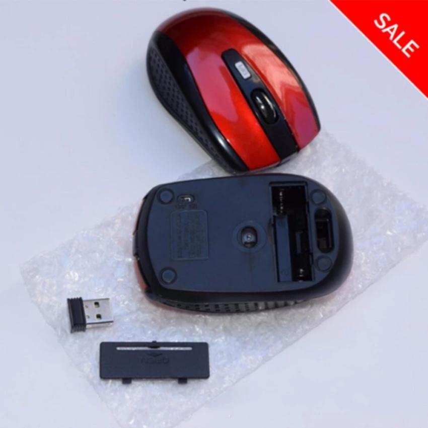 Hình ảnh Chuột không dây 6D 7500+Tặng miếng lót chuột (Đen)