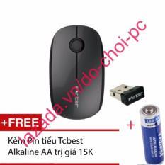 Chuột quang không dây forter v189 kèm pin Tcbest alkaline AA trị giá 15k (đen)