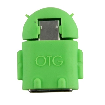 Computers Laptops Otg Drives Android Robot Micro Usb Host Otg Adapter Cable(Green) - intl