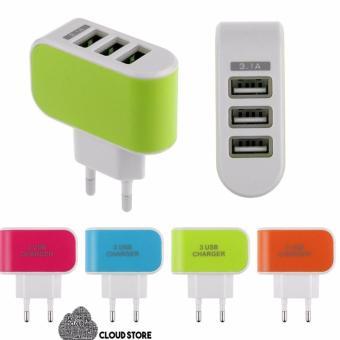 Cục sạc điện thoại đa năng tiện lợi 3 cổng USB 3.1A Cloud Store -sạc đa năng