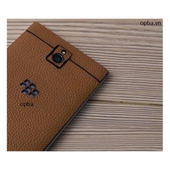 Dán Da IONE Blackberry Passport 100% Da Bò Màu Vàng Bò Hành 1 Năm - 5