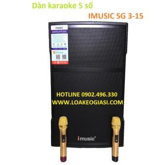 Dàn Karaoke di động IMUSIC SG 3-15 + Tích hợp karaoke 5 số
