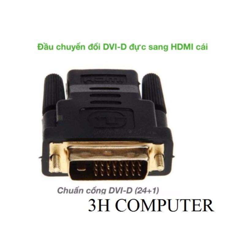 Bảng giá Đầu chuyển đổi DVI-D (24+1) cổng đực sang HDMI cổng cái (DH01) (Màu đen) Phong Vũ
