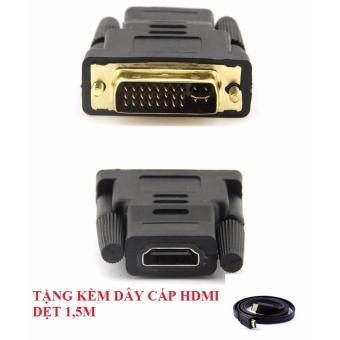 Đầu chuyển DVI (24+5) sang HDMI + Tặng kèm cáp HDMI 1.5M