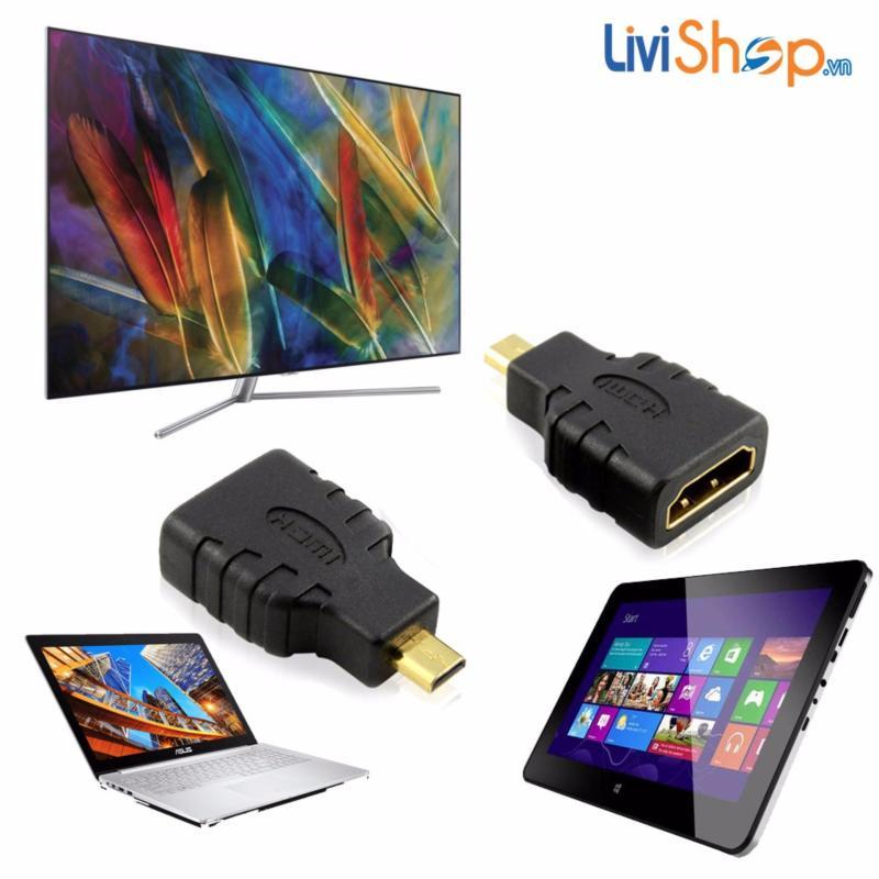 Bảng giá Đầu chuyển Micro HDMI (đực) sang HDMI (cái) tiêu chuẩn độ nét cao Full HD Phong Vũ
