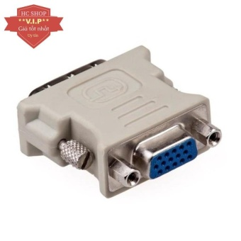 Đầu chuyển tín hiệu từ DVI sang VGA (Xám)