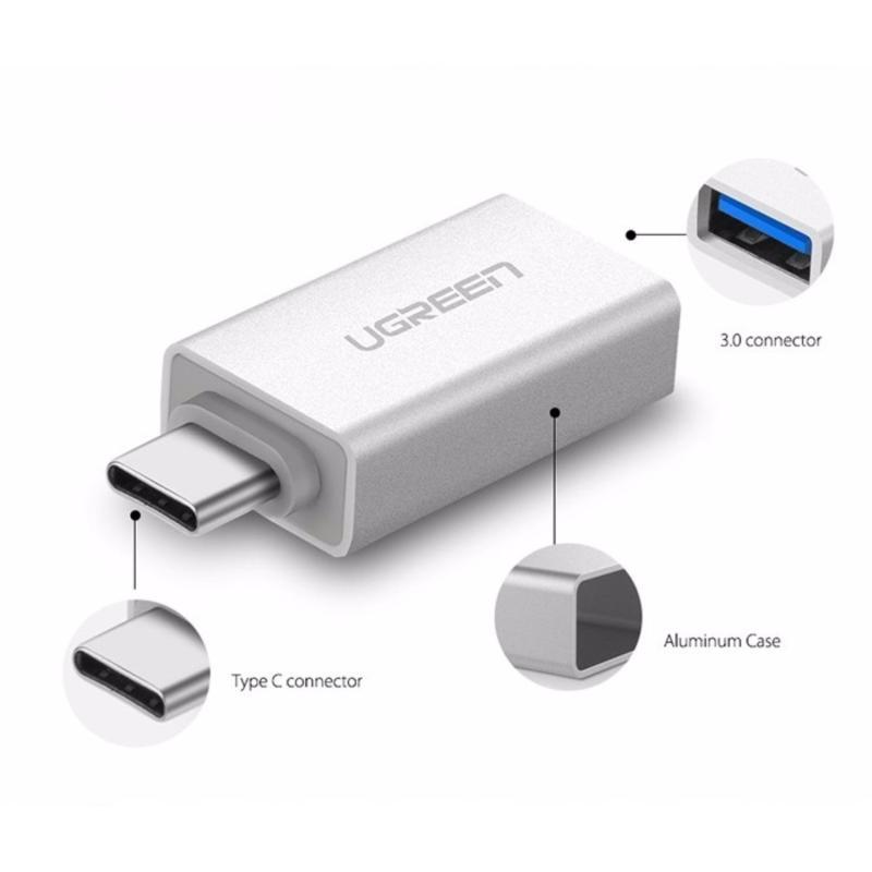 Bảng giá Đầu chuyển USB Type C sang USB 3.0 cao cấp Ugreen 30155 Phong Vũ