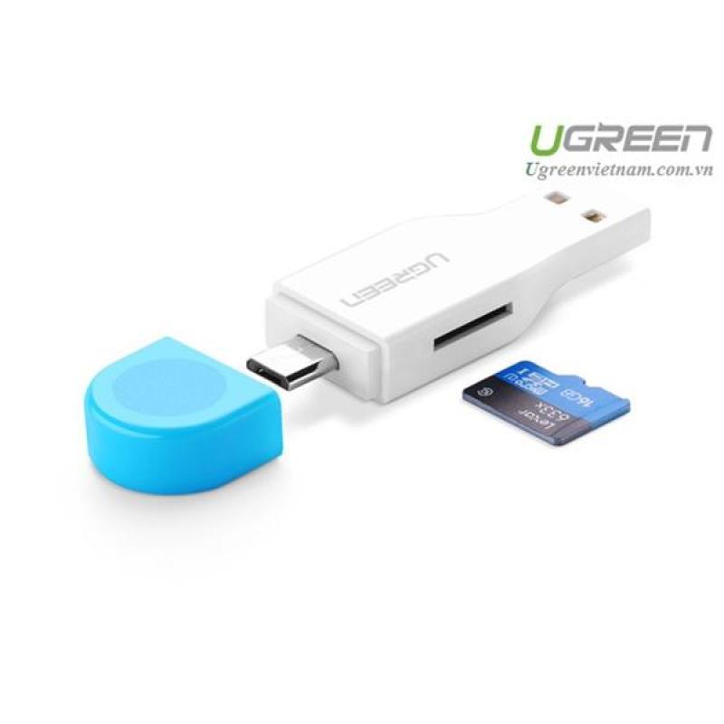 Bảng giá Đầu đọc thẻ 2 in 1 hỗ trợ OTG và USB TF / Micro-SD card Ugreen 30358 Phong Vũ