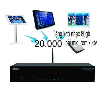 Đầu Karaoke Wifi Acnos SK8910KTV W (Tặng Ổ Cứng HDD Nhạc 80GB)