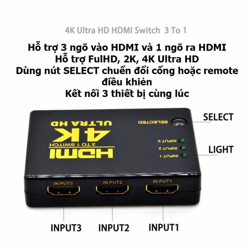 Đầu nối tín hiệu HDMI cho tivi - 3 ngõ vào 1 ngõ ra chuẩn 4K 2K mói nhất