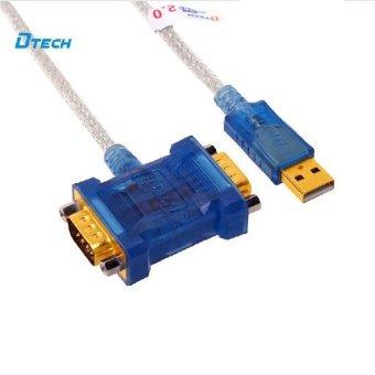 Dây cáp chuyển tín hiệu USB ra 2 Đầu COM9 - Dtech DT 5024 (xanh)