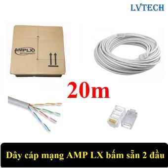 Dây cáp mạng AMPLX bấm sẵn 2 đầu 20m (Trắng)