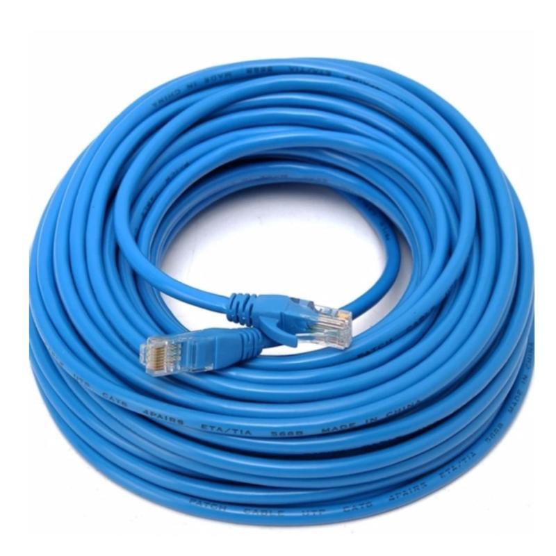 Bảng giá Dây cáp mạng CAT5E UTP bấm sẵn 2 đầu 35 Mét (Trắng, xanh - Mới 100%) Phong Vũ