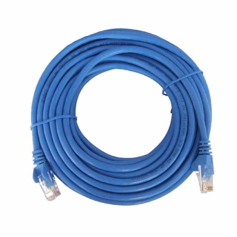 Bảng giá Dây cáp mạng CAT5E UTP bấm sẵn 2 đầu 7 Mét (Trắng, xanh - Mới 100%) Phong Vũ