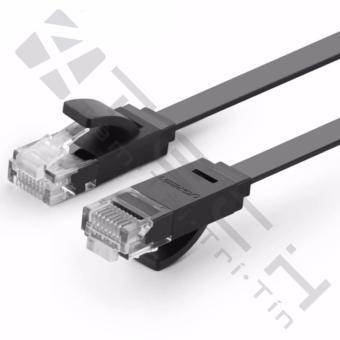 Dây mạng 2 đầu đúc Cat6 UTP dây dẹt dài 3m UGREEN NW104 11237 (đen)