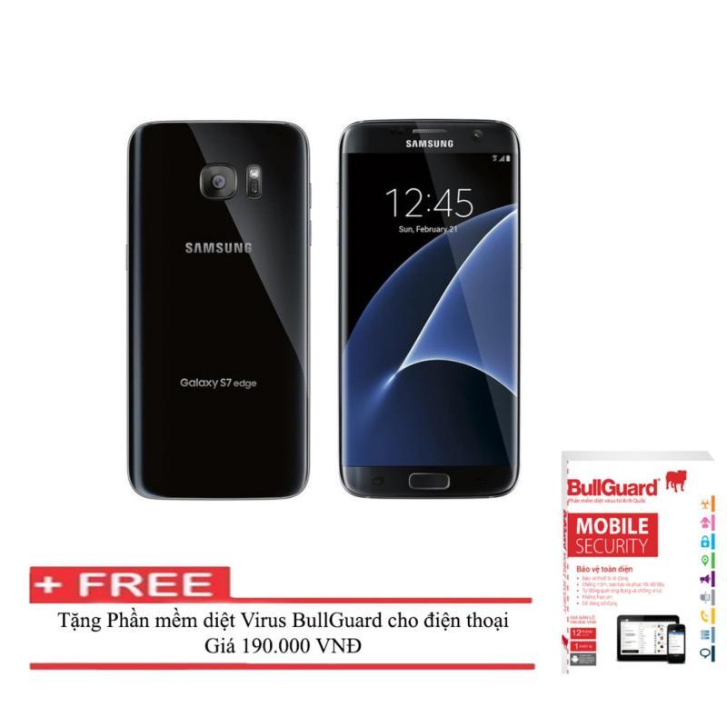 Điện thoại Samsung Galaxy S7 edge 32GB ( Đen) RAM 4GB  + Phần mềm diệt Virus BULLGUARD (Anh quốc) - Hàng nhập khẩu
